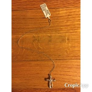 Unbranded Jewelry - Diamond Accent Looped Cross Pendant Necklace.